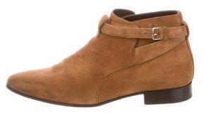 Saint Laurent Suede Jodphur Ankle Boots