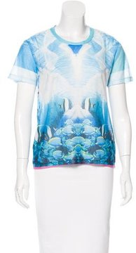 Clover Canyon Printed Short Sleeve Top w/ Tags