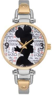 Disney Disney's Minnie Mouse Glam Dots Women's Half Bangle Watch