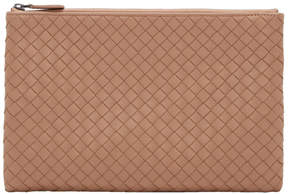 Bottega Veneta Pink Medium Intrecciato Zipped Pouch