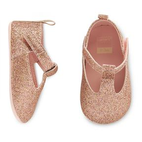 Carter's Baby Girl T-Strap Mary Jane Crib Shoes