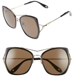 Women's Givenchy 7031/s Airy 55Mm Oversized Sunglasses - Black/ Gold