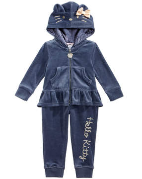 Hello Kitty 2-Pc. Velour Hoodie & Jogger Pants Set, Baby Girls (0-24 months)
