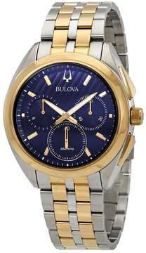 Bulova Curv Chronograph Blue Dial Men's Watch