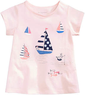 First Impressions Print Cotton T-Shirt, Baby Girls, Created for Macy's