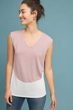 Anthropologie Mauve Colorblocked Tee