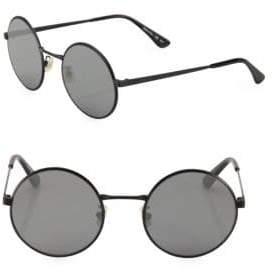 Saint Laurent SL 136 Zero 52MM Round Sunglasses