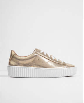 Express metallic platform sneakers