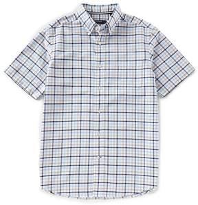 Daniel Cremieux Big & Tall Large Check Oxford Short-Sleeve Woven Shirt