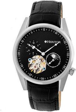Heritor Alexander Mens Black Strap Watch-Herhr4902