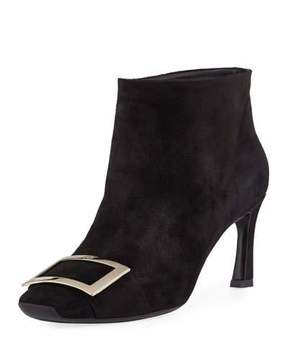 Roger Vivier Trompette Extra Low Suede Bootie