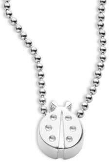 Alex Woo Sterling Silver Ladybug Necklace