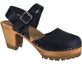 Mia Abba Leather Clogs