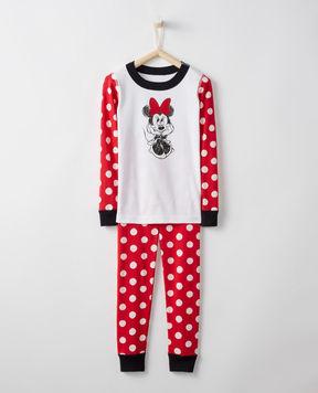 Hanna Andersson Disney Minnie Mouse Long John Pajamas In Organic Cotton