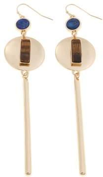 Danielle Nicole Salli Disc and Stick Geometric Stone Dangle Earrings