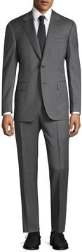 Canali Men's Solid Notch Lapel Suit