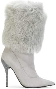 Baldinini faux fur trim boots