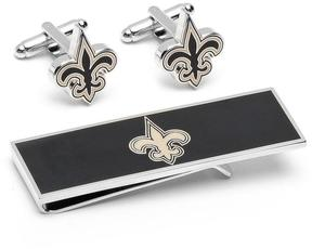 Ice New Orleans Saints Cufflinks and Money Clip Gift Set