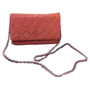 Wallet on Chain patent leather handbag