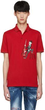 Dolce & Gabbana Red Cello Player Polo