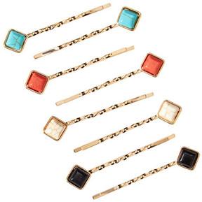 Natasha Accessories Rhinestone Accented Twist Bobby Pin Set - Set of 8