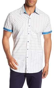 Robert Graham Gatestreet Mixed Stripe Print Classic Fit Shirt