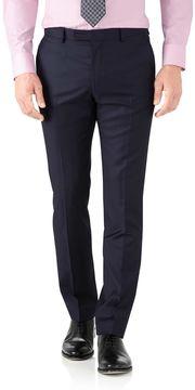 Charles Tyrwhitt Navy Slim Fit Italian Twill Luxury Suit Wool Pants Size W36 L32