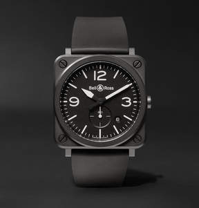 Bell & Ross Br S 39mm Ceramic And Rubber Watch