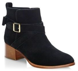 Kate Spade Polly Stacked Heel Leather Booties