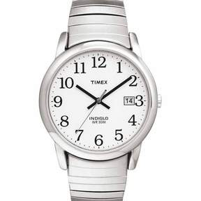 Timex Men's Silvertone Stainless Steel Easy Reader Expansion Watch