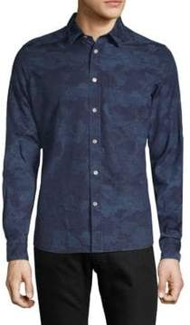 J. Lindeberg Camouflage Cotton Button-Down Shirt