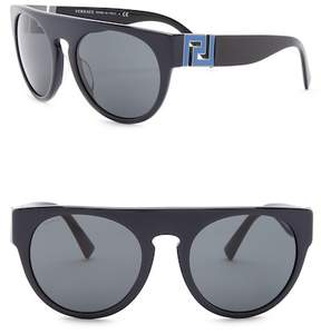 Versace Round 55mm Sunglasses