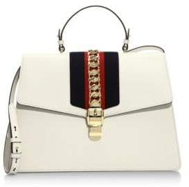 Gucci Maxi Sylvie Leather Top Handle Bag - NERO - STYLE