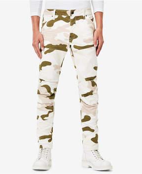 G Star Men's 5620 3D Slim-Fit Stretch Camouflage-Print Jeans