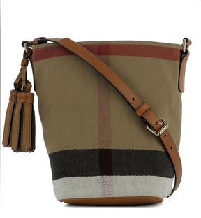 Burberry Beige Fabric Shoulder Bag - BEIGE - STYLE