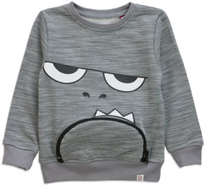 Sovereign Code Zip It Monster Sweatshirt, Gray, Size 12-24 Months