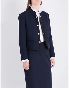 Claudie Pierlot Mandarin-collar woven jacket