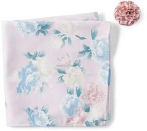 Original Penguin Lundgren Floral Pocket Square & Lapel Pin Set