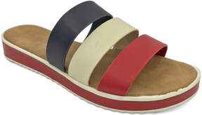 Bamboo Red & Navy Bestie Slide - Women