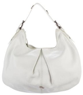Burberry Grained Leather Hobo - WHITE - STYLE