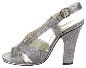 Marc Jacobs Metallic Multistrap Sandals