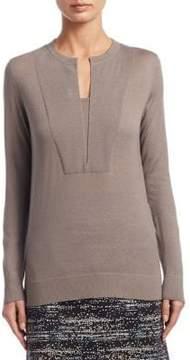 Akris Punto Split Neck Wool Sweater