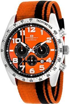 Oceanaut Milano OC3521 Men's Round Orange Nylon Watch