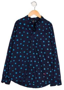 Little Marc Jacobs Boys' Printed Button-Up Shirt w/ Tags