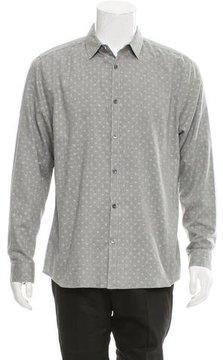 Closed Polka Dot Print Button-Up Shirt