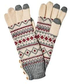 San Diego Hat Company Women's Fair Isle Glove With Button Kng3464.