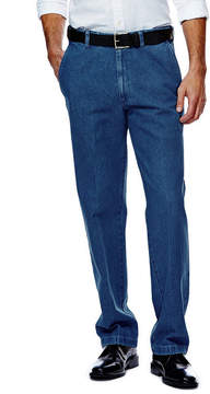 Haggar Work to Weekend Classic-Fit Flat-Front Denim Pants