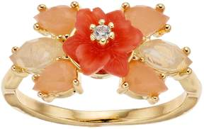 Lauren Conrad Peach Flower Cluster Ring
