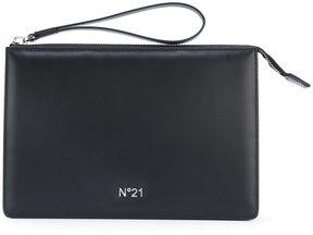 No21 logo plaque clutch