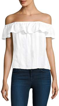 Bella Dahl Women's Cotton Ruffled Top